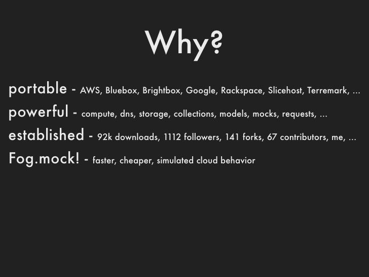 Get Connected1   credentials = {2   :provider => Rackspace,3   :rackspace_api_key=> RACKSPACE_API_KEY,4   ...