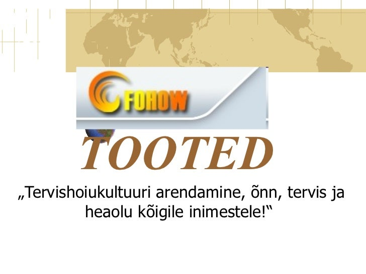 fohow tooted