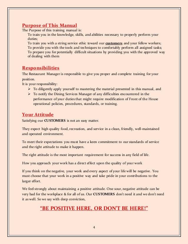 foh staff training rh slideshare net Training Required Training Required