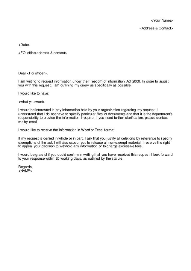 business letter requesting information