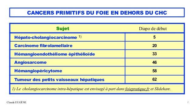 Cancers primitifs rares du foie Slide 2