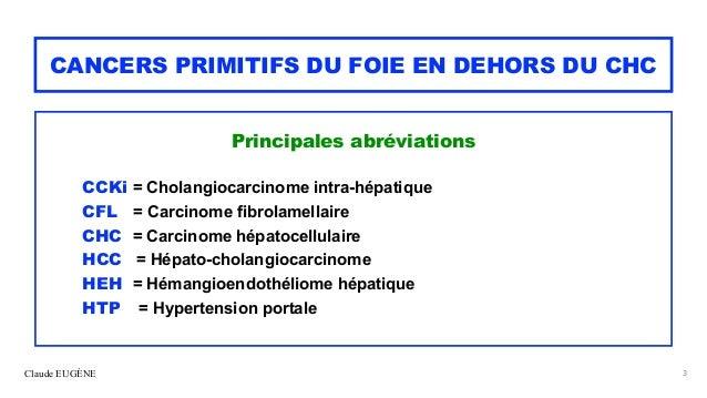 Cancers primitifs rares du foie Slide 3