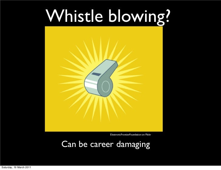 Whistle blowing?                                        ElectronicFrontierFoundation on Flickr                            ...
