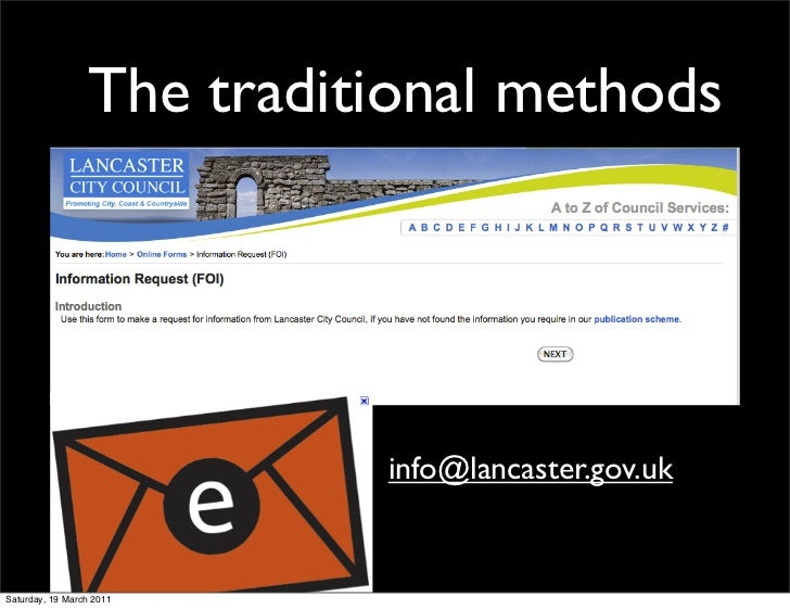 The traditional methods                           info@lancaster.gov.ukSaturday, 19 March 2011
