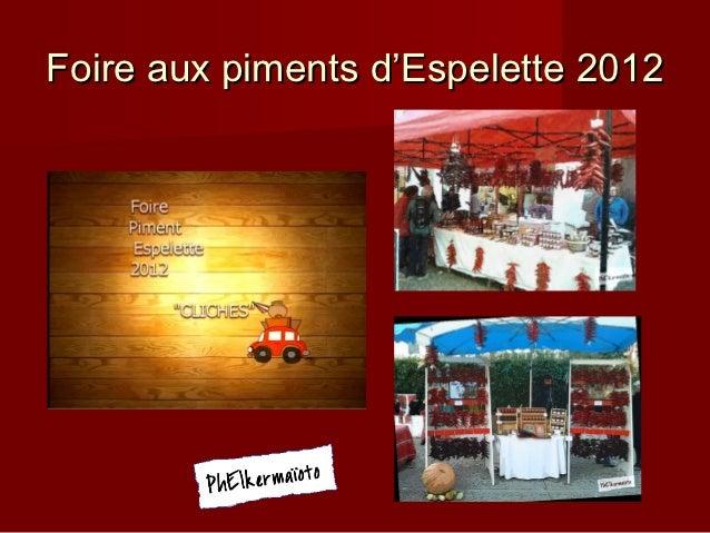 Foire aux piments d'Espelette 2012