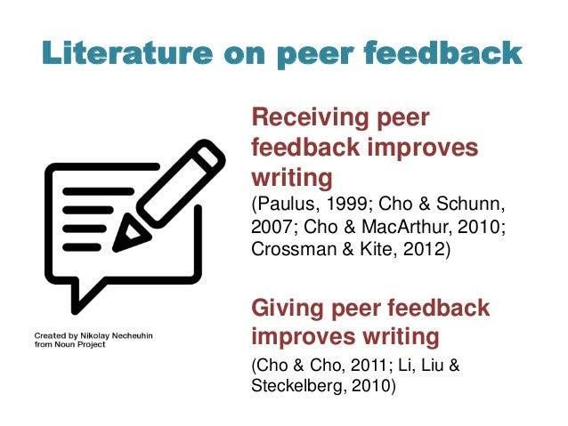 Pilot study: Longitudinal analysis of peer feedback in a writing-intensive course Slide 2