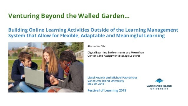 Venturing Beyond the Walled Garden... Building Online Learning Activities Outside of the Learning Management System that A...