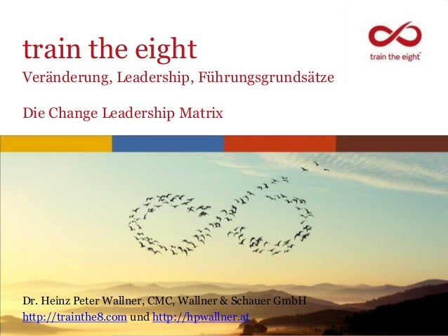 train the eightVeränderung, Leadership, FührungsgrundsätzeDie Change Leadership MatrixDr. Heinz Peter Wallner, CMC, Wallne...