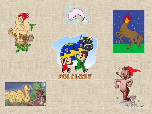 O que é FolcloreO Folclore é um conjunto de mitos e lendas que as pessoaspassam de geração para geração. Muitos nascem da ...