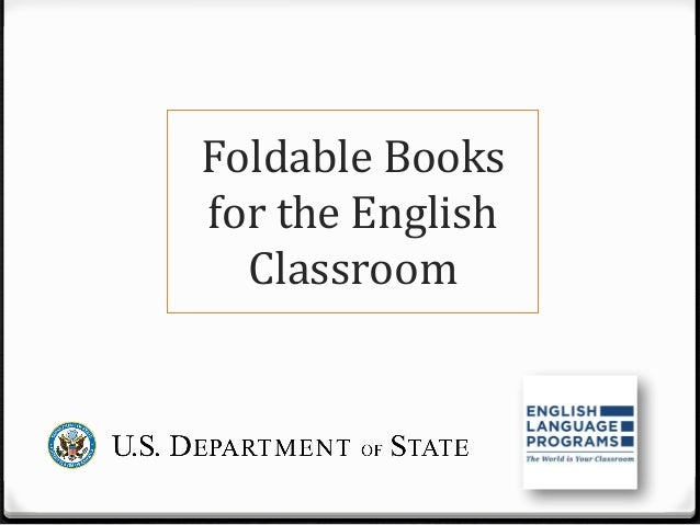 Foldable Books For The English Classroom By Erika Weber
