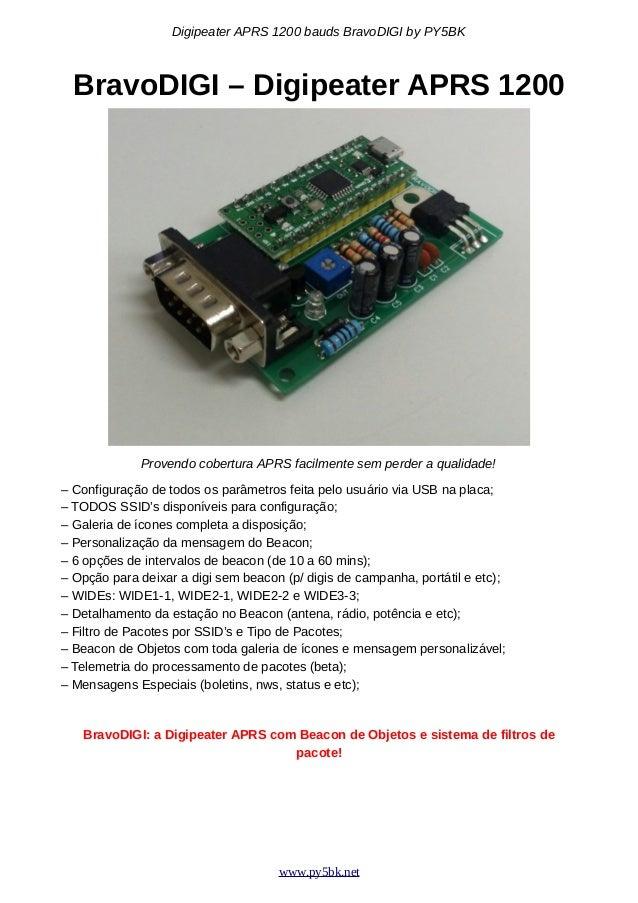 Digipeater APRS 1200 bauds Arduino ATMega328 BravoDIGI v1 3