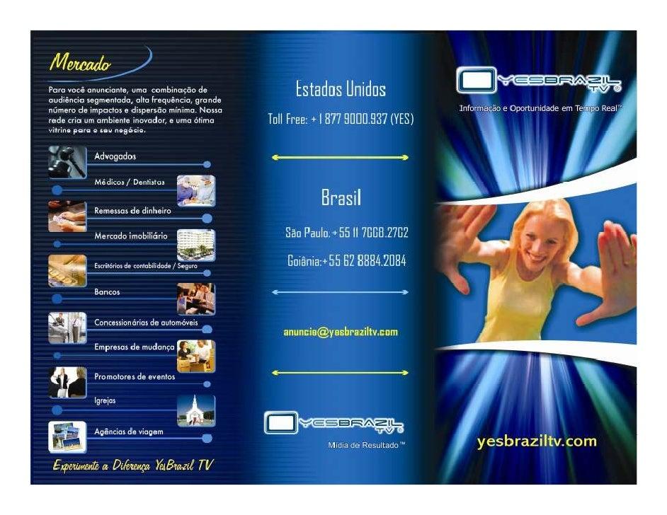 Folder Yes Brazil Tv Pdf