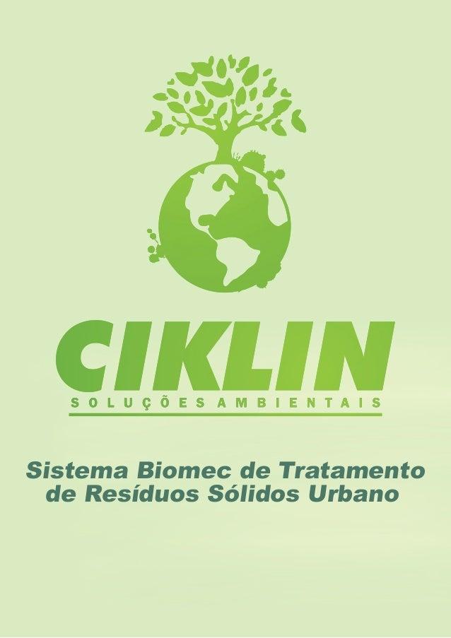 Sistema Biomec de Tratamento de Resíduos Sólidos Urbano