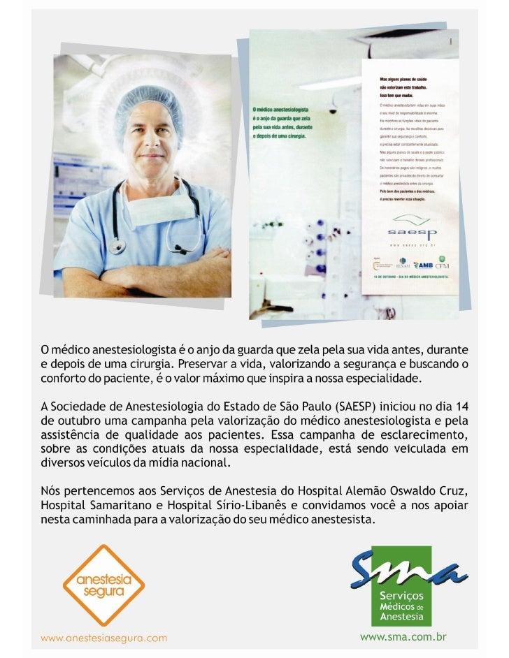 Folder SMA - Campanha pela Valorização do Anestesiologista
