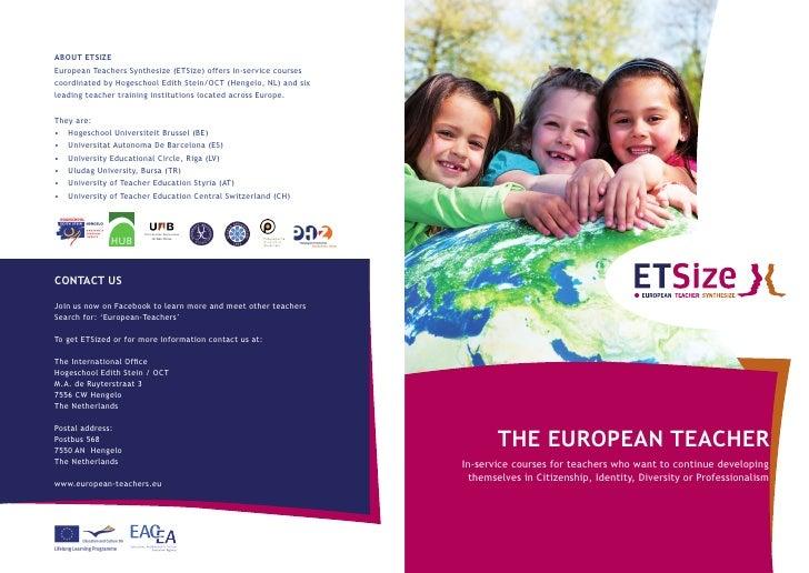 THE EUROPEAN TEACHER