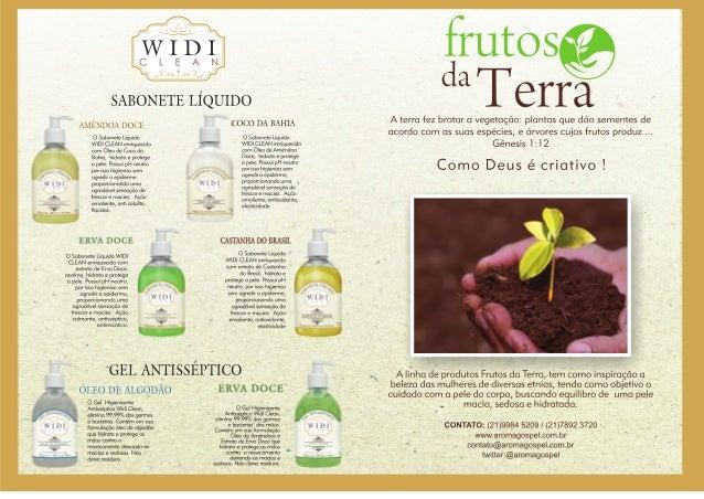 """Catalogo de produtos de beleza """"Frutos da Terra"""""""