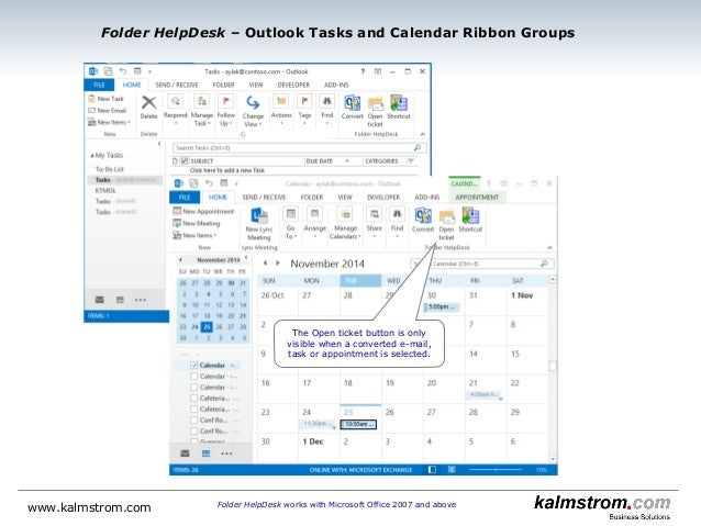 ... Appointments Into Tickets; 3. Folder HelpDesk Works With Microsoft  Office 2007 ...