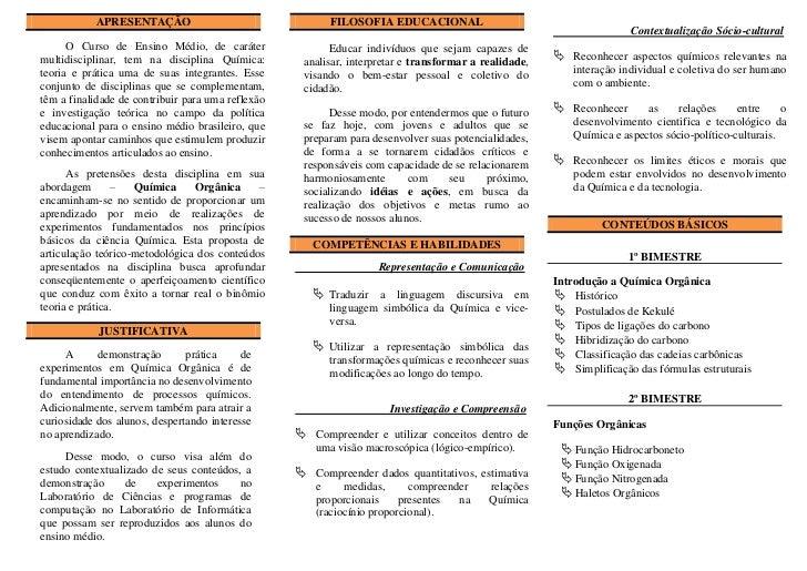 APRESENTAÇÃO                                     FILOSOFIA EDUCACIONALa                                                   ...