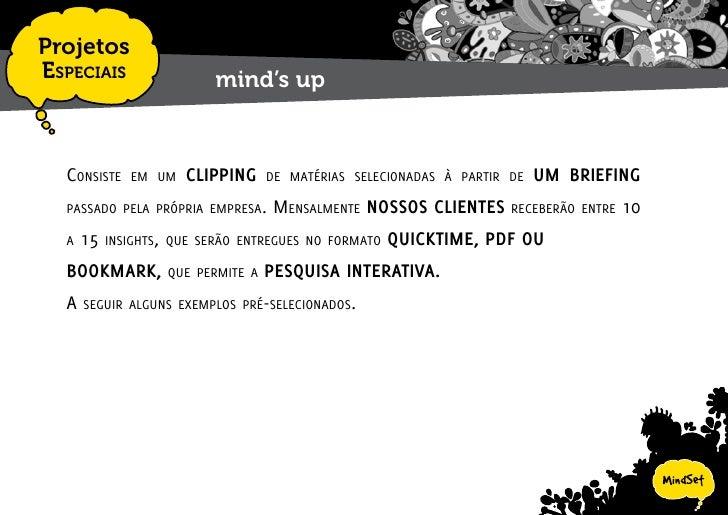 Projetos EspEciais   mind's up - exemplos