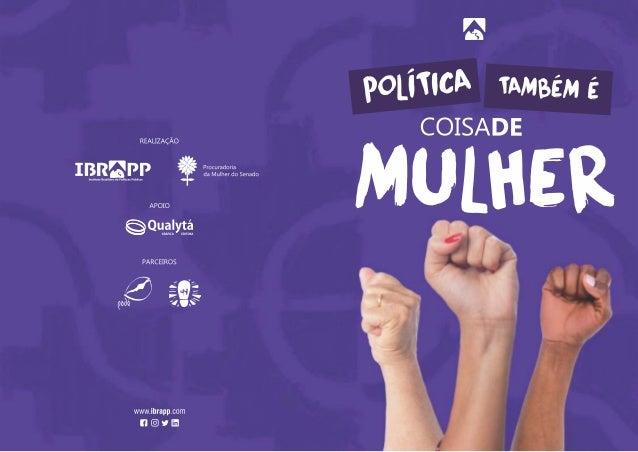 Folder - Política coisa de mulher