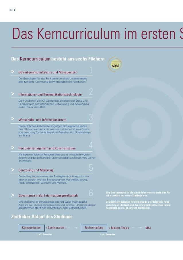 6   7 Das Kerncurriculum im ersten S 1 2 3 Betriebswirtschaftslehre und Management Die Grundlagen für das Funktionieren ei...
