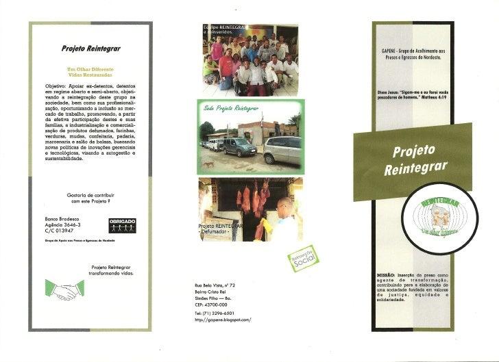 Folder Projeto Reintegrar