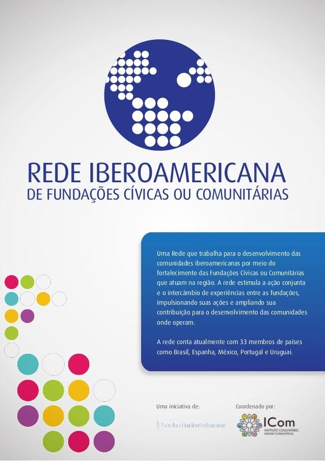 REDE IBEROAMERICANA DE FUNDAÇÕES CÍVICAS OU COMUNITÁRIAS Uma Rede que trabalha para o desenvolvimento das comunidades iber...