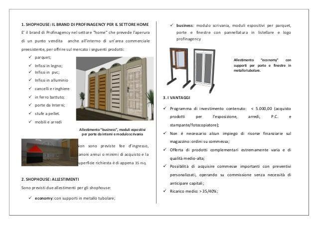 1. SHOPHOUSE: IL BRAND DI PROFINAGENCY PER IL SETTORE HOME                       business: modulo scrivania, moduli espos...