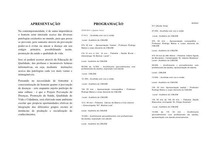 30/09/2          APRESENTAÇÃO                                          PROGRAMAÇÃO                               011 (Sext...