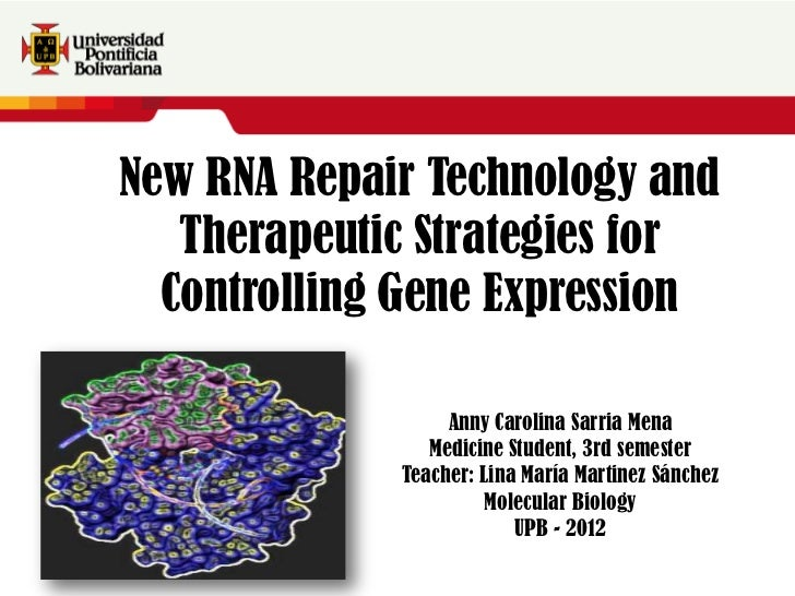 New RNA Repair Technology and                Therapeutic Strategies forTexto adicional Texto adicional               Contr...