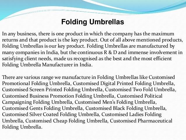 Folding umbrellas Slide 2