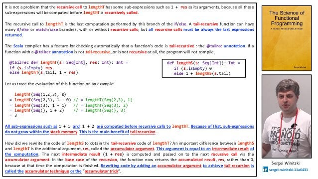 It is not a problem that the recursive call to lengthT has some sub-expressions such as 1 + res as its arguments, because ...
