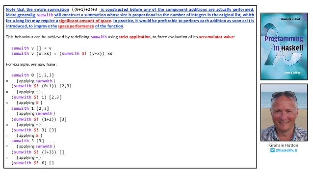 Note that the entire summation ((0+1)+2)+3 is constructed before any of the component additions are actually performed. Mo...