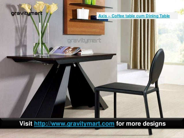 Folding dining tables to coffee table or console table