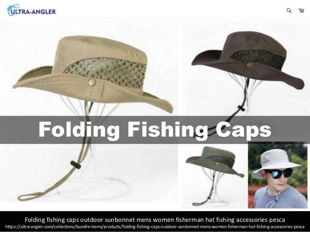 bba15a7914347 Folding fishing caps outdoor sunbonnet for mens women