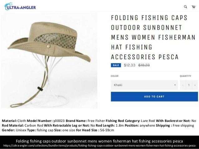 a100f20dab671 Folding fishing caps outdoor sunbonnet mens women fisherman hat fishing  accessories pesca ...