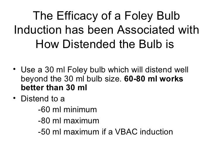 18 the efficacy of a foley bulb