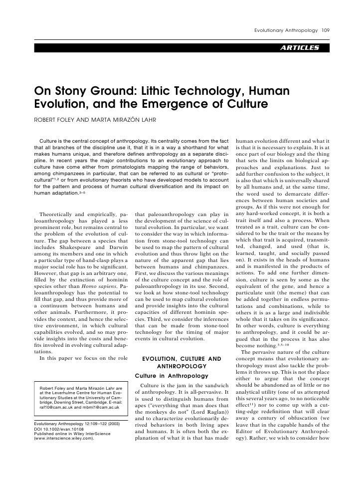 Evolutionary Anthropology 109                                                                                             ...