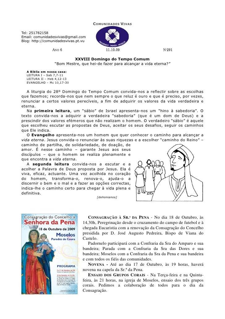 COMUNIDADES VIVAS  Tel: 251782158 Email: comunidadesvivas@gmail.com Blog: http://comunidadesvivas.pt.vu                  A...