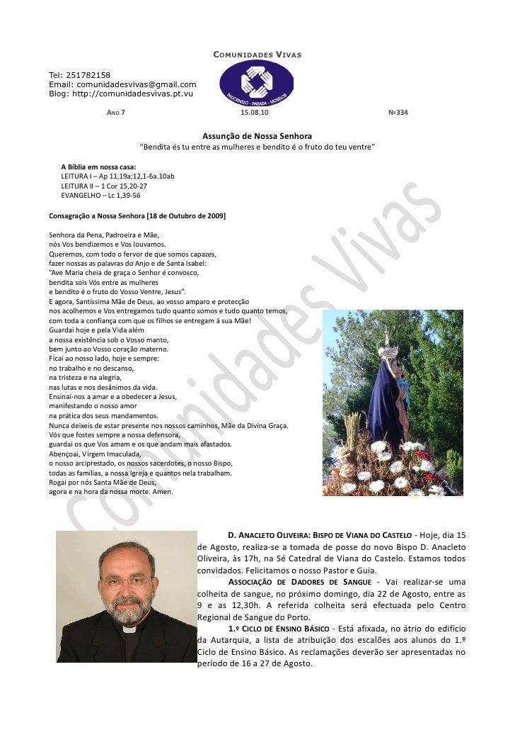 Folha Dominical - 15.08.10 Nº334