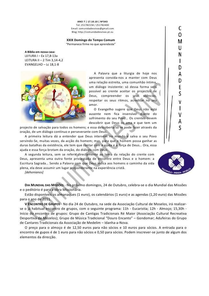Folha Dominical - 17.10.10 Nº343