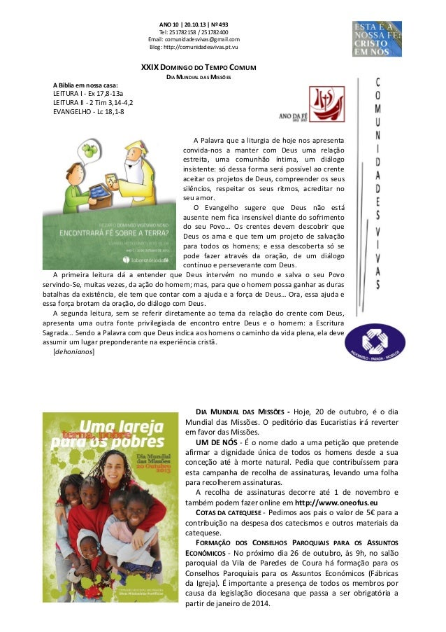 ANO 10 | 20.10.13 | Nº 493 Tel: 251782158 / 251782400 Email: comunidadesvivas@gmail.com Blog: http://comunidadesvivas.pt.v...