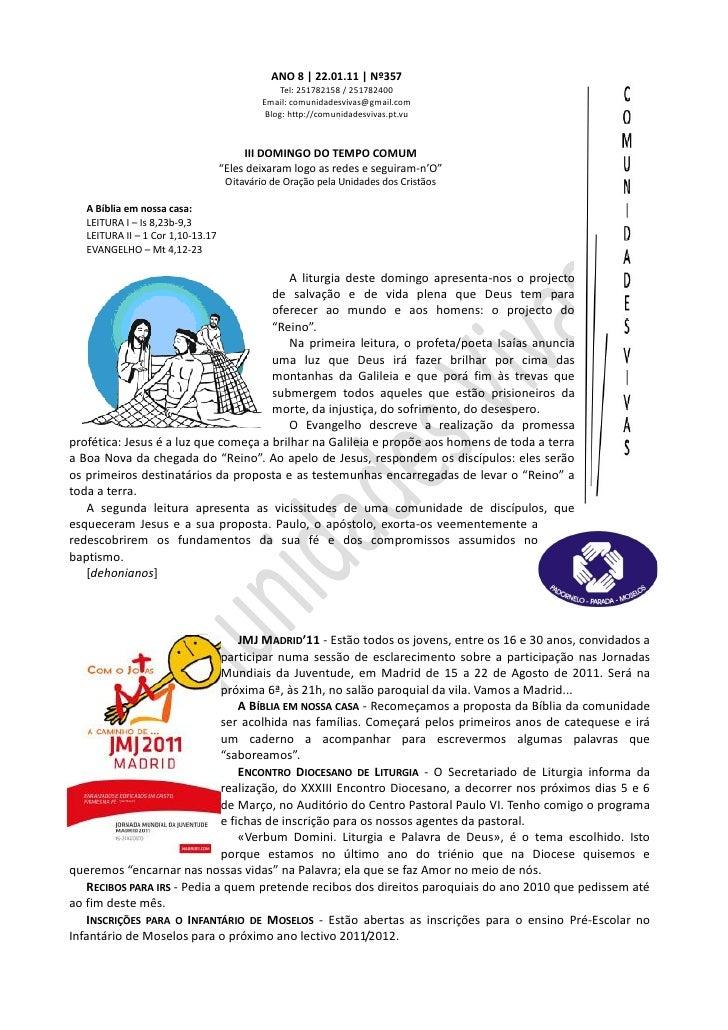 Folha Dominical - 22.01.11 Nº357