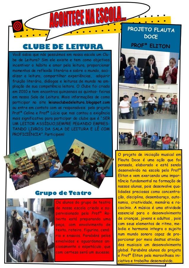 PROJETO FLAUTA                                                                    DOCE     CLUBE DE LEITURA               ...