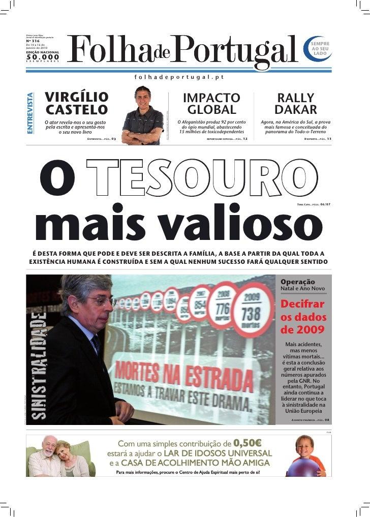 Diretor: João Filipe                             Jornal de distribuição gratuita                             Nº 316       ...