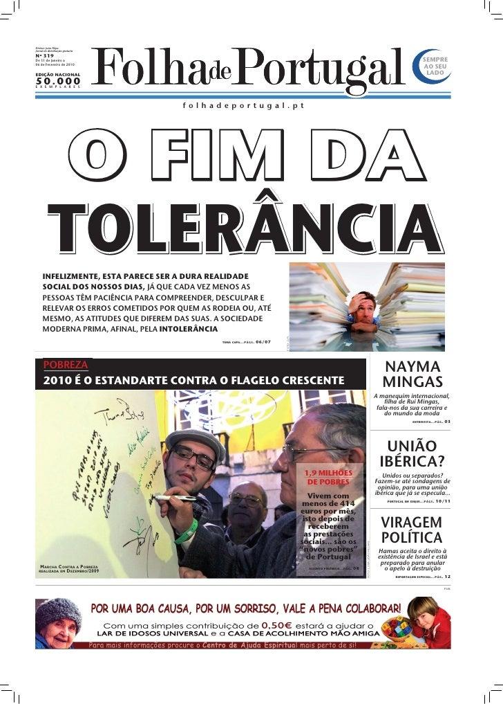 Diretor: João Filipe Jornal de distribuição gratuita Nº 319 De 31 de Janeiro a                                            ...