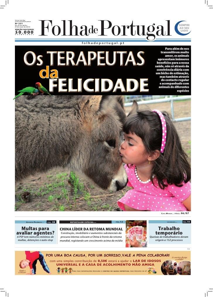 Director: João Filipe              Jornal de distribuição gratuita              Nº 331              De 25 de abril a      ...