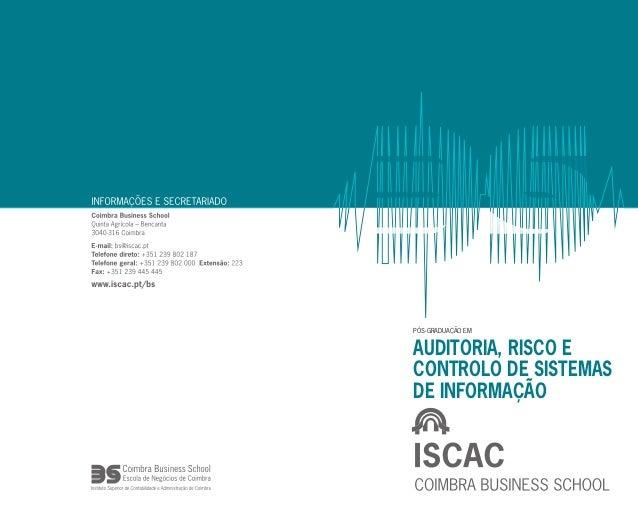 PÓS-GRADUAÇÃO EM Auditoria, Risco e Controlo de Sistemas de Informação