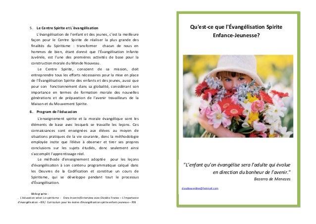 5. Le Centre Spirite et L`évangélisation                                                         Quest-ce que lÉvangélisat...