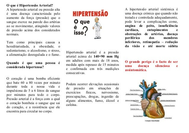 O que é Hipertensão Arterial?A hipertensão arterial ou pressão alta                                        A hipertensão a...